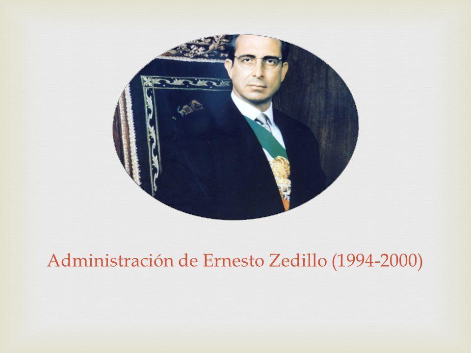 Administración de Ernesto Zedillo (1994-2000)
