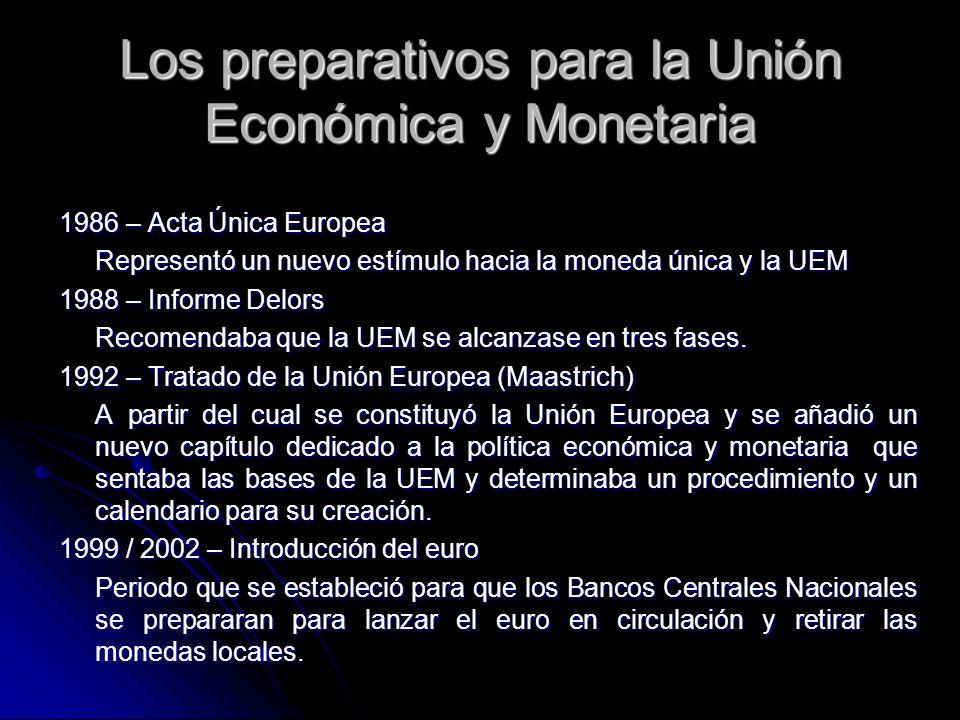 Los preparativos para la Unión Económica y Monetaria