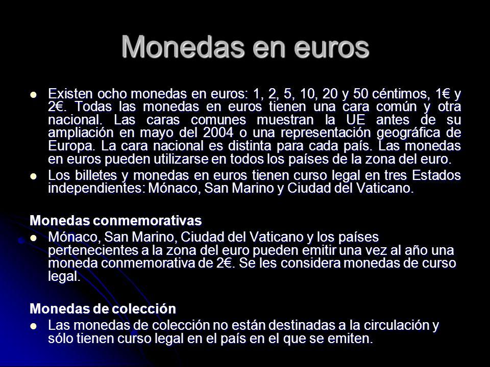 Monedas en euros