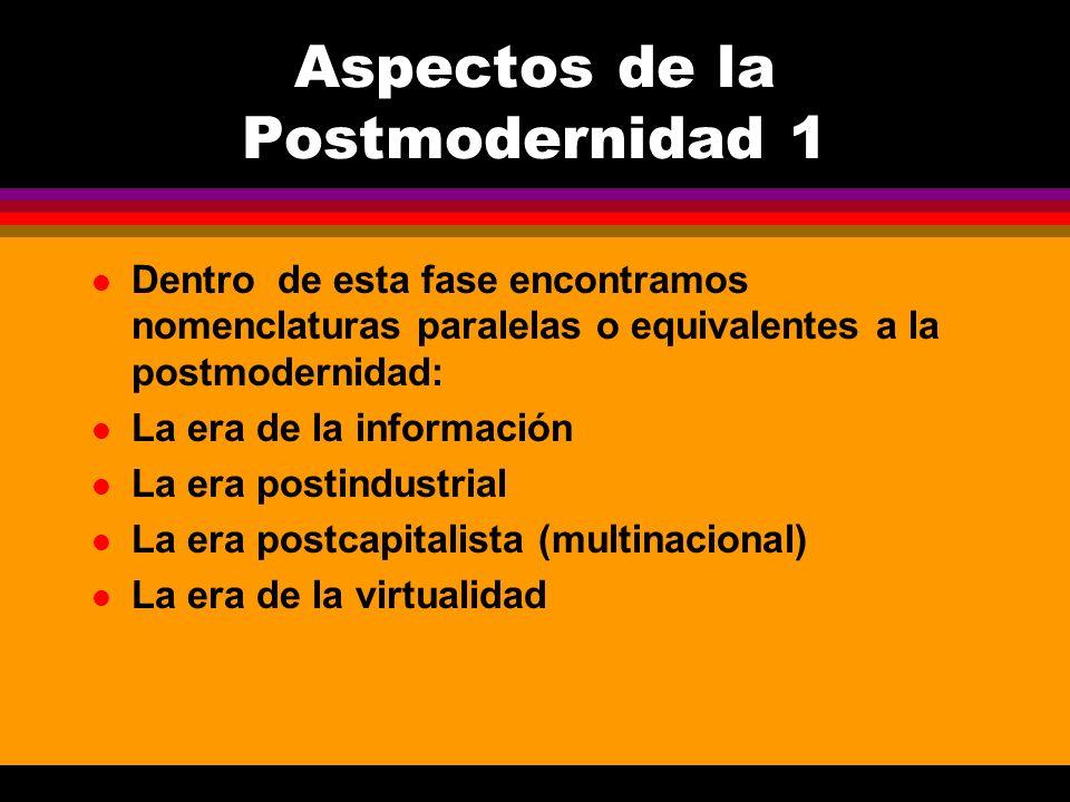 Aspectos de la Postmodernidad 1