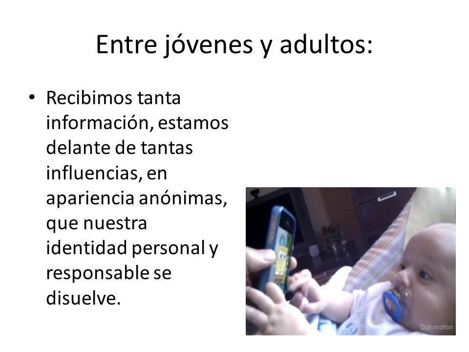 Entre jóvenes y adultos: