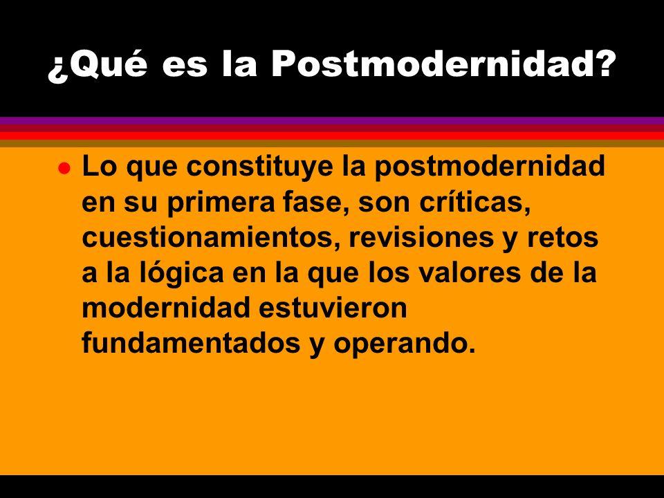 ¿Qué es la Postmodernidad