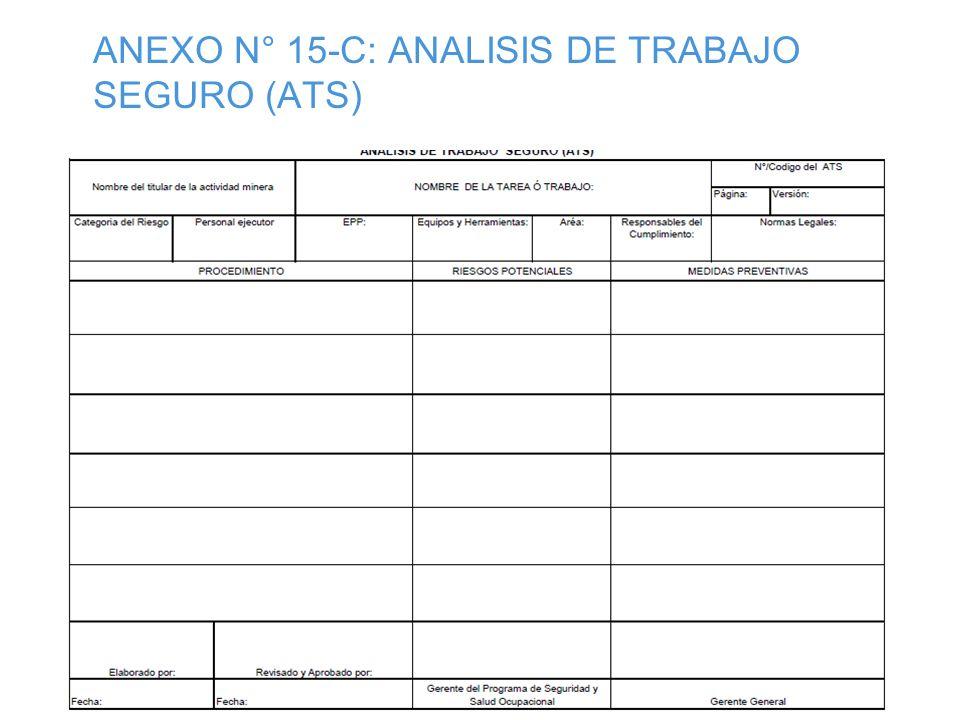 ANEXO Nº 14-B: MATRIZ BÁSICA DE CAPACITACIÓN EN SEGURIDAD Y SALUD OCUPACIONAL EN EL TRABAJO