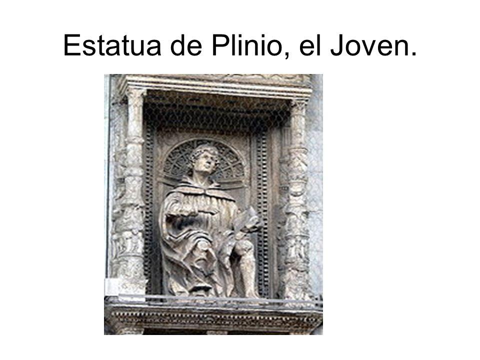 Estatua de Plinio, el Joven.