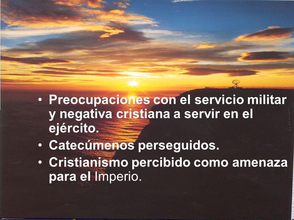 Preocupaciones con el servicio militar y negativa cristiana a servir en el ejército.
