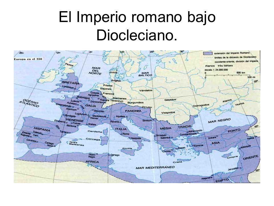 El Imperio romano bajo Diocleciano.