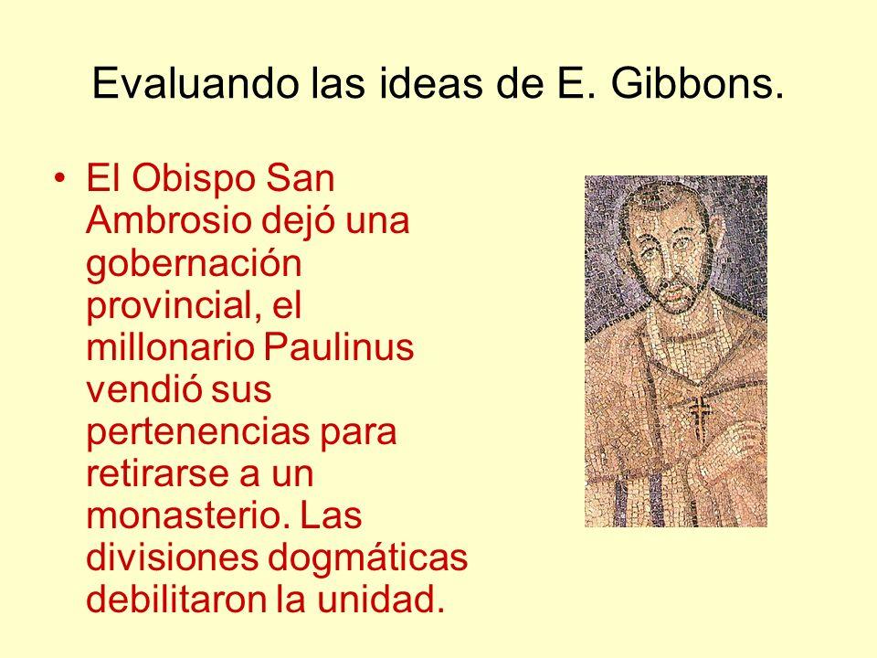 Evaluando las ideas de E. Gibbons.