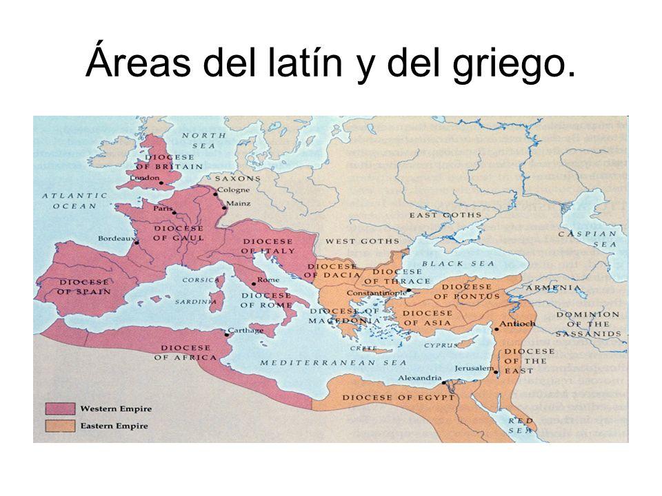 Áreas del latín y del griego.