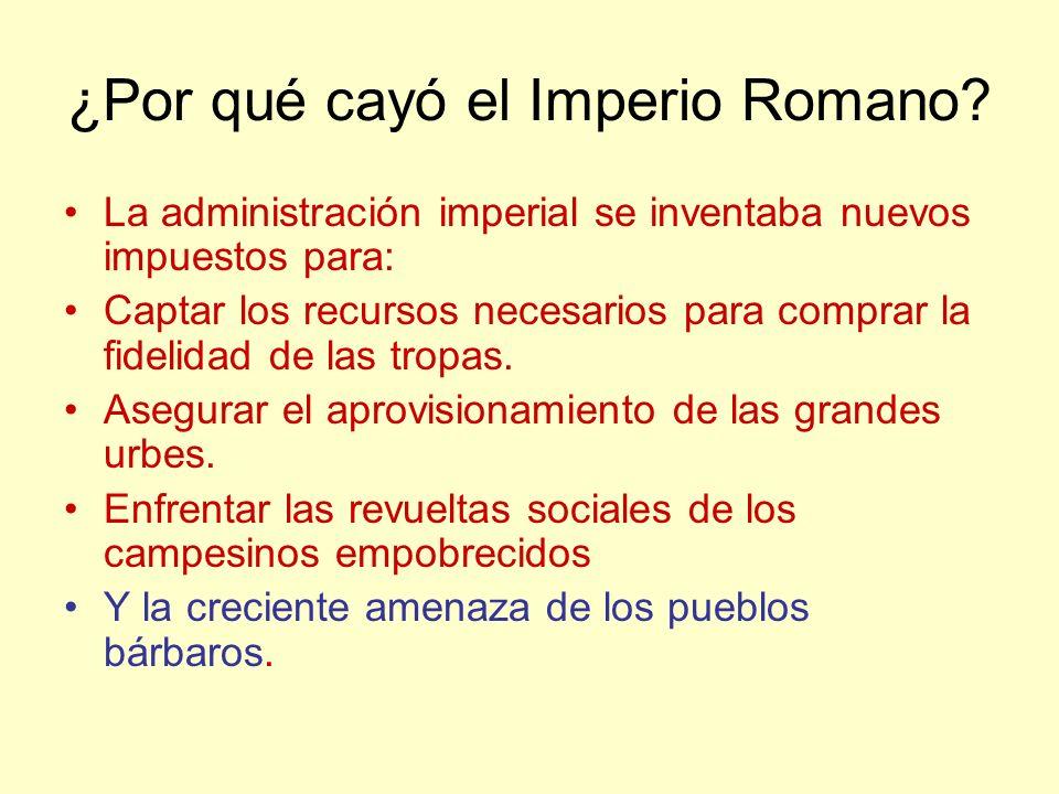 ¿Por qué cayó el Imperio Romano