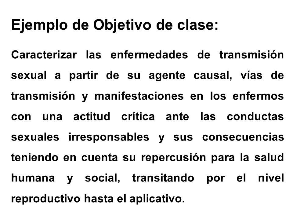 Ejemplo de Objetivo de clase: