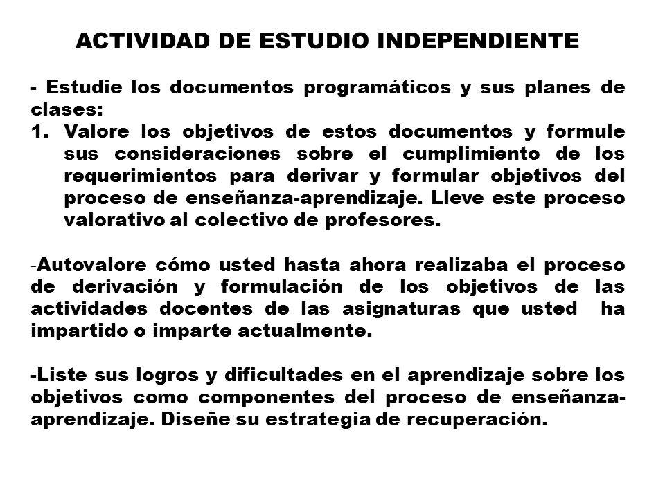 ACTIVIDAD DE ESTUDIO INDEPENDIENTE
