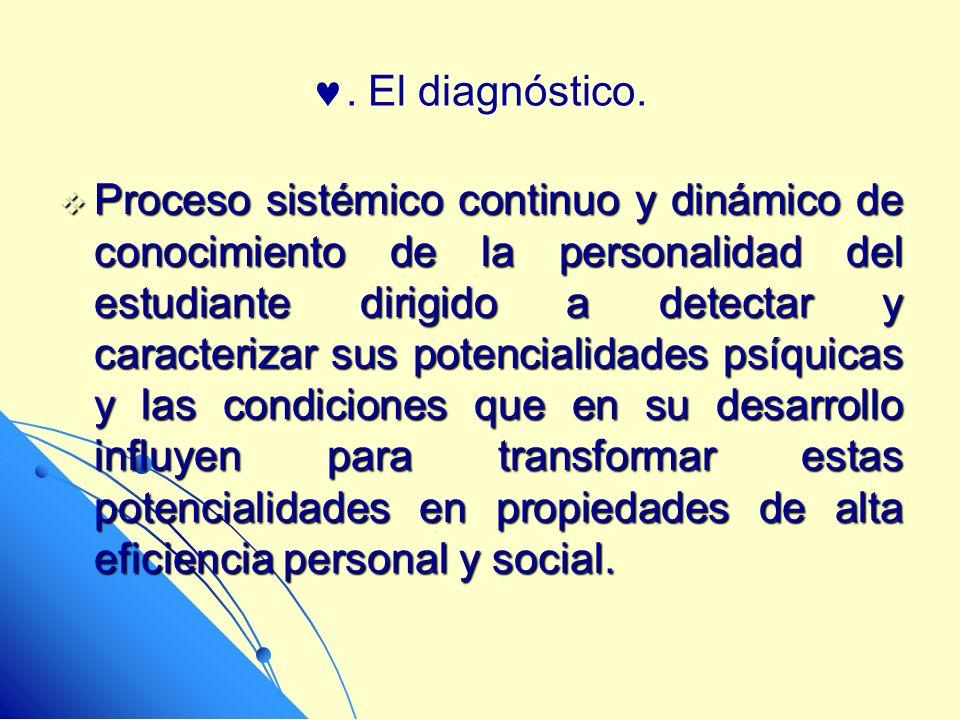 . El diagnóstico.