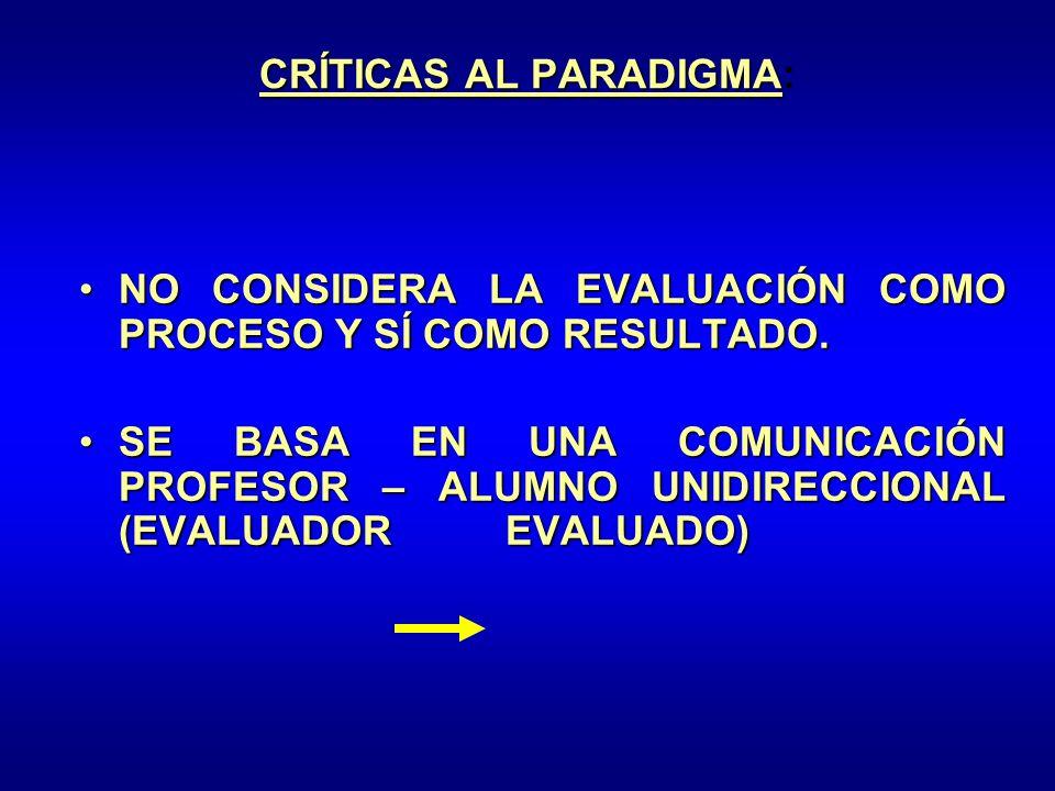 CRÍTICAS AL PARADIGMA: