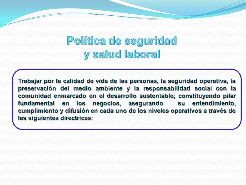 Política de seguridad y salud laboral