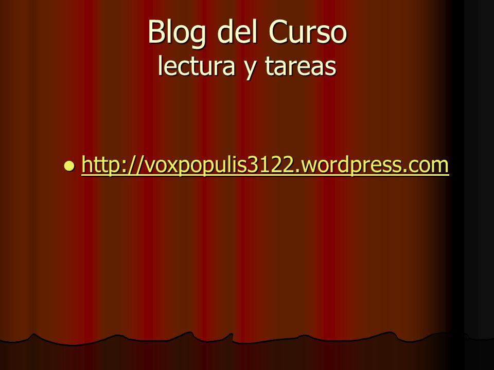 Blog del Curso lectura y tareas