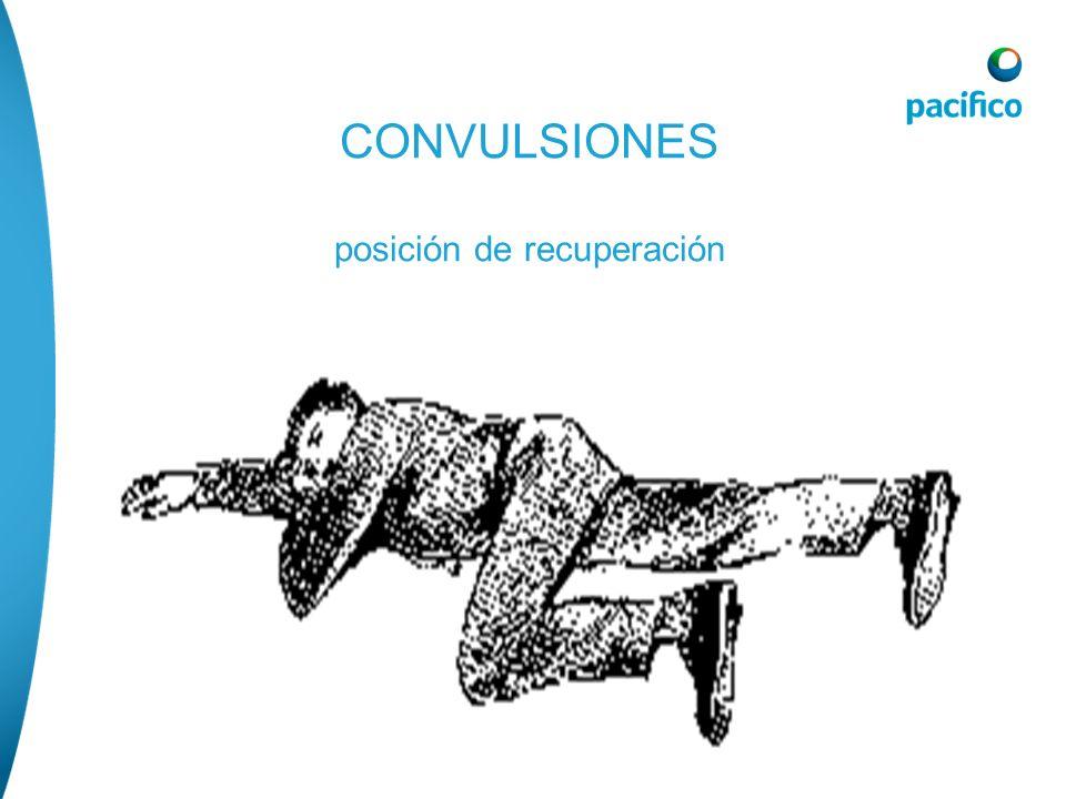 CONVULSIONES posición de recuperación