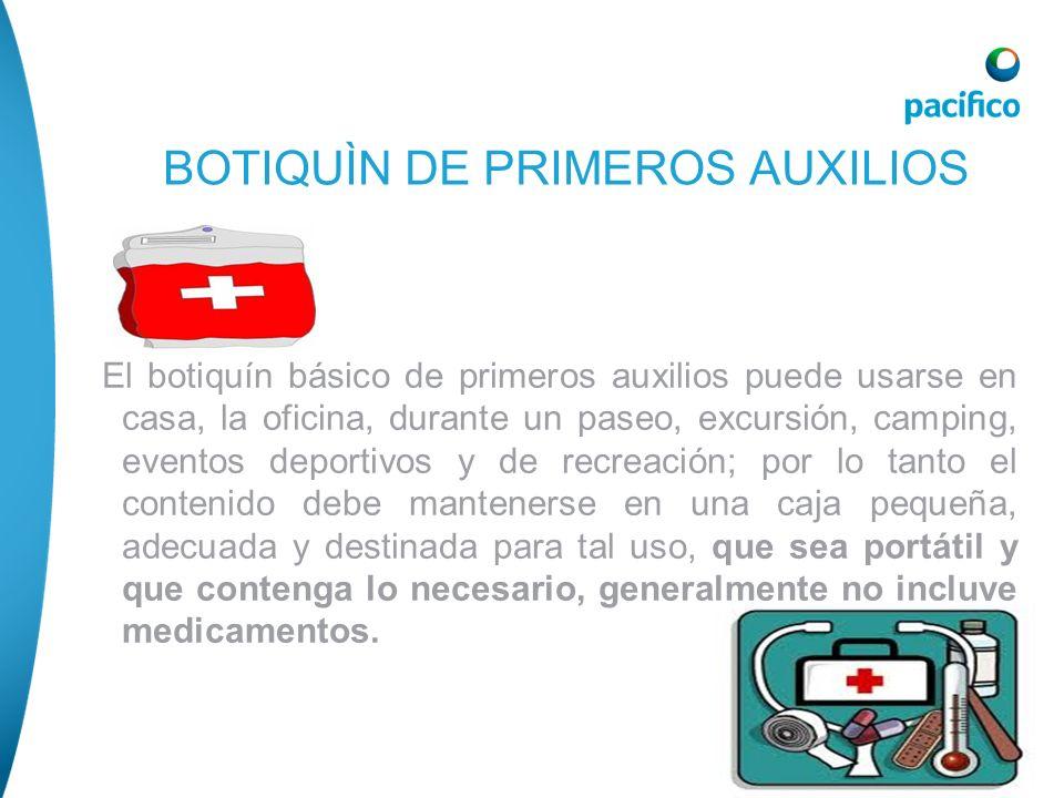 BOTIQUÌN DE PRIMEROS AUXILIOS