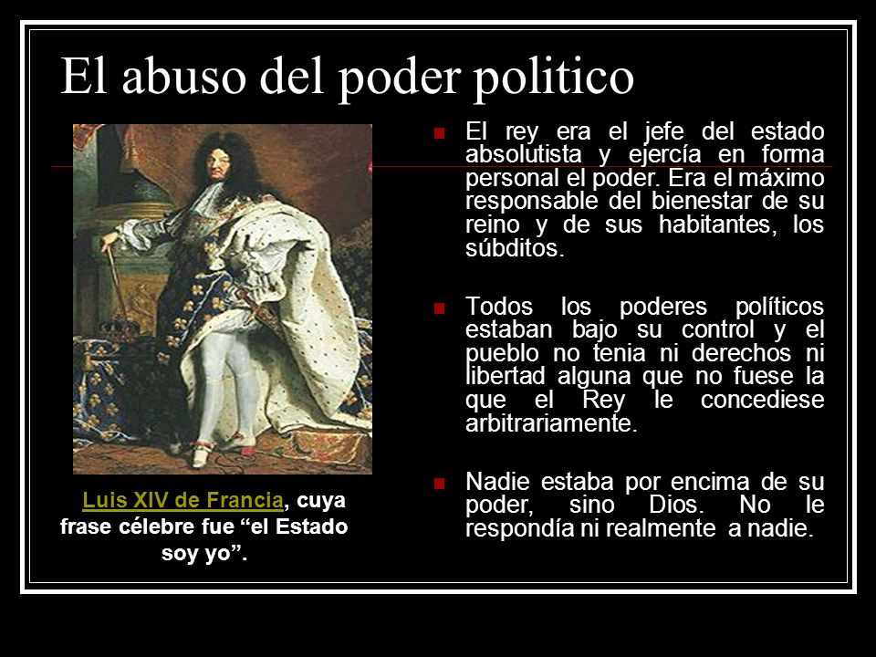 El abuso del poder politico