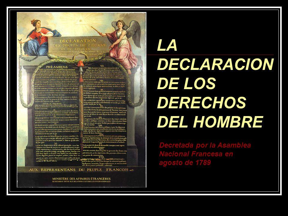 LA DECLARACION DE LOS DERECHOS DEL HOMBRE