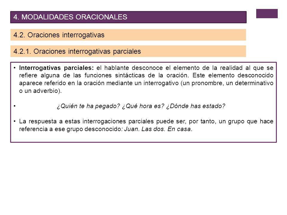 4. MODALIDADES ORACIONALES