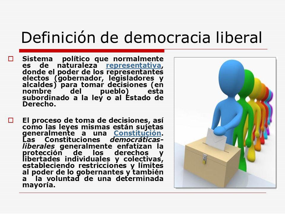 Definición de democracia liberal