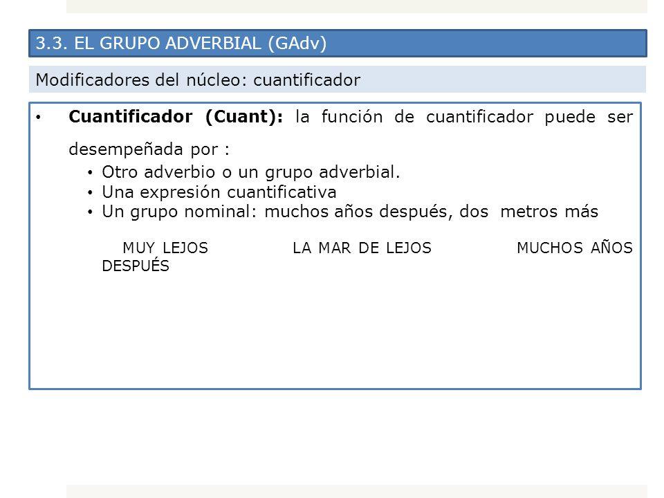 3.3. EL GRUPO ADVERBIAL (GAdv)