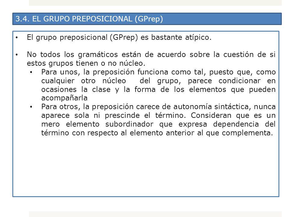 3.4. EL GRUPO PREPOSICIONAL (GPrep)