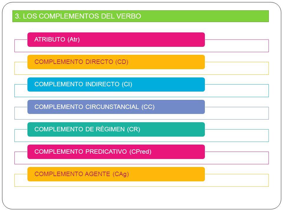 3. LOS COMPLEMENTOS DEL VERBO