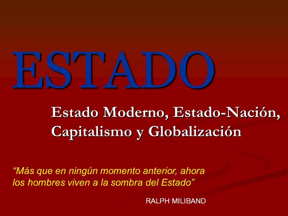Estado Moderno, Estado-Nación, Capitalismo y Globalización