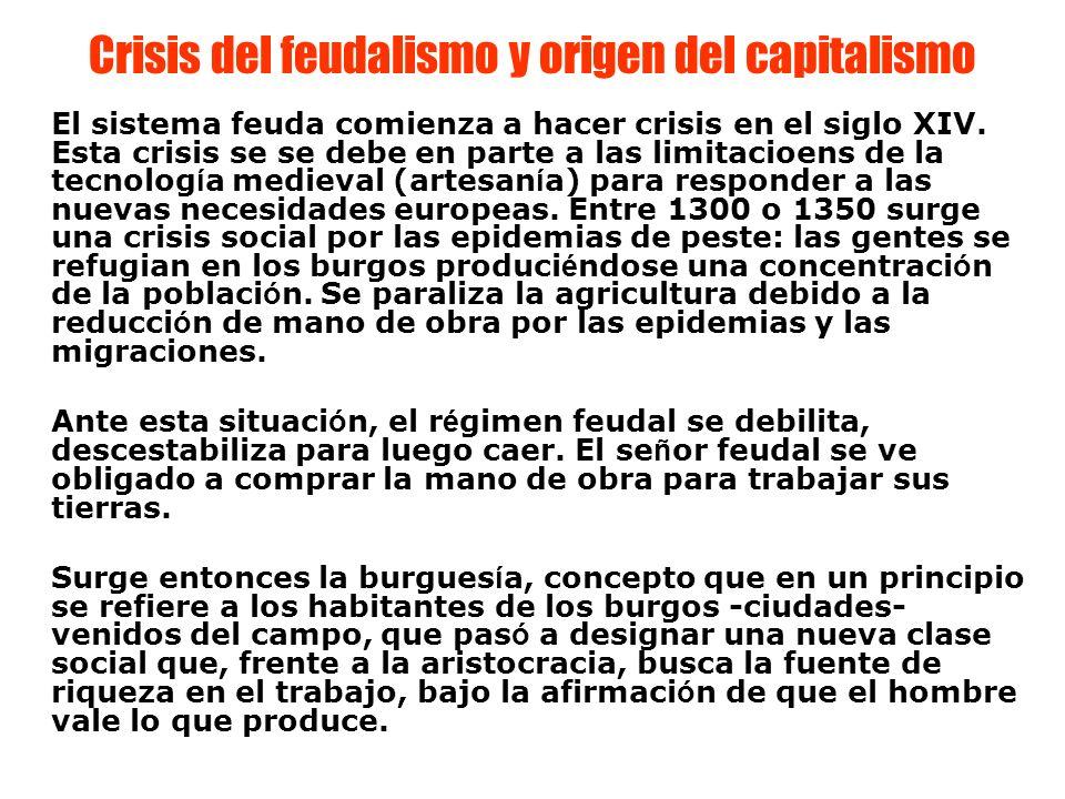 Crisis del feudalismo y origen del capitalismo