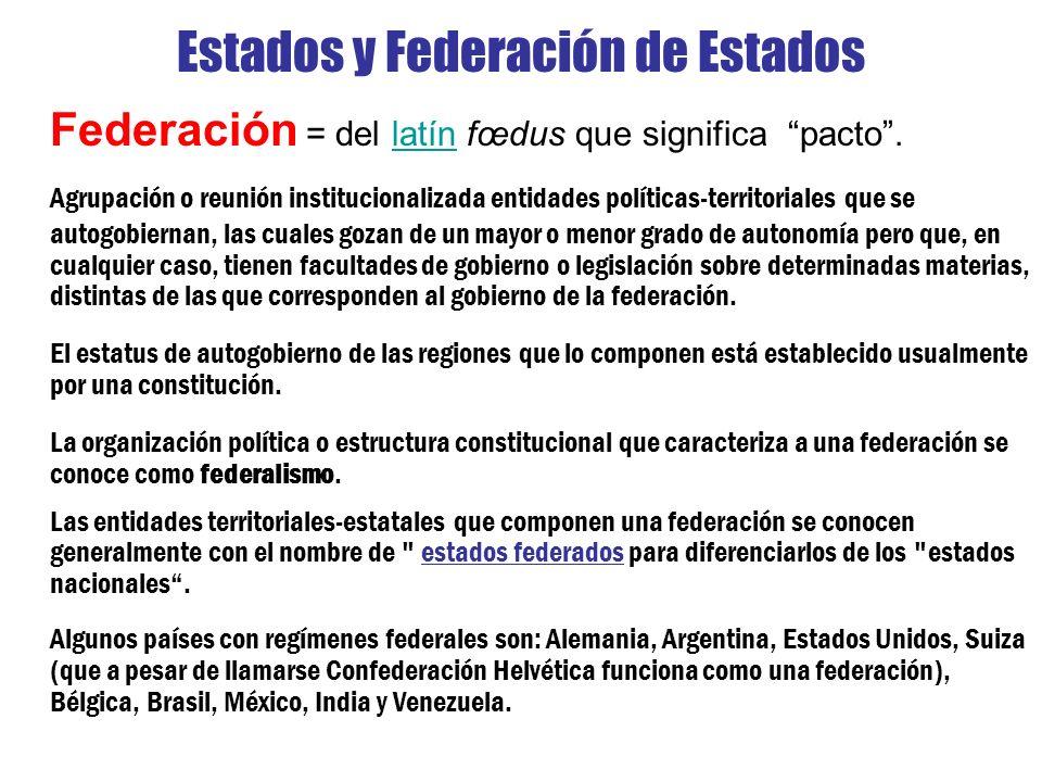 Estados y Federación de Estados