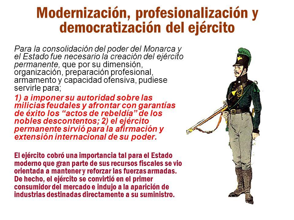 Modernización, profesionalización y democratización del ejército