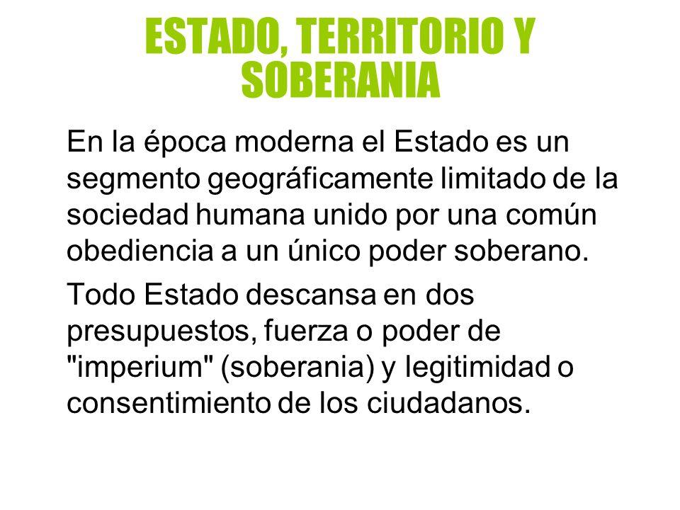 ESTADO, TERRITORIO Y SOBERANIA