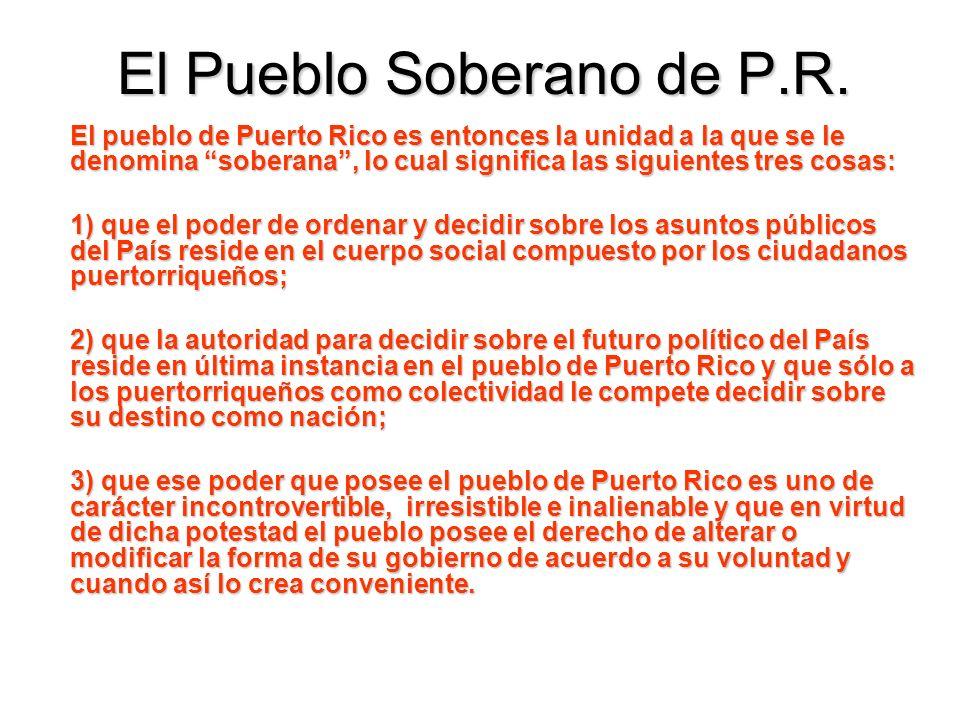 El Pueblo Soberano de P.R.
