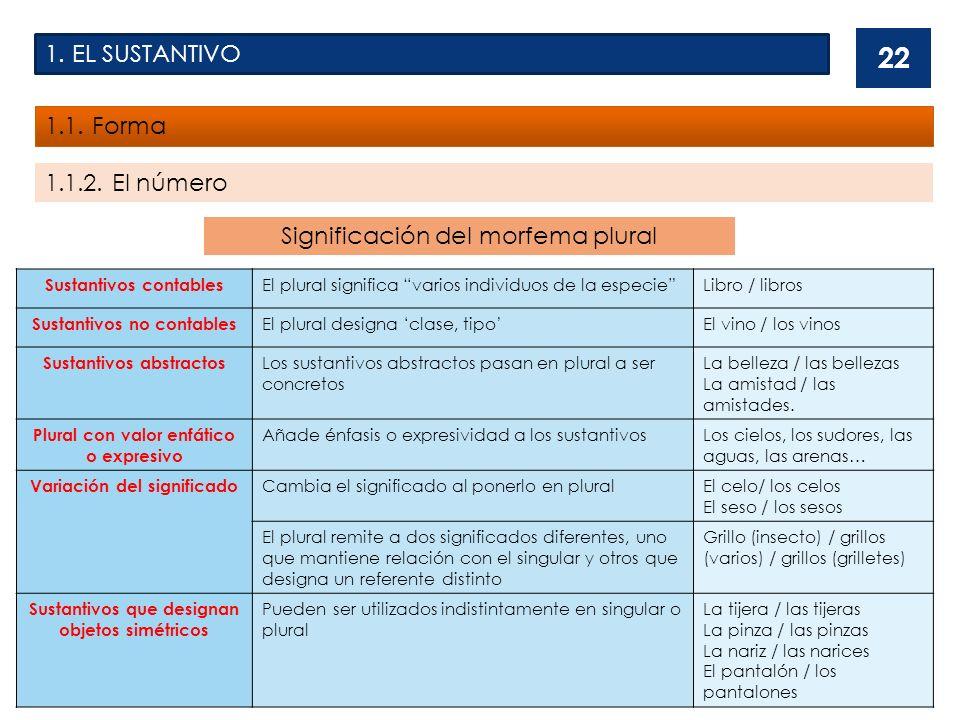 Significación del morfema plural