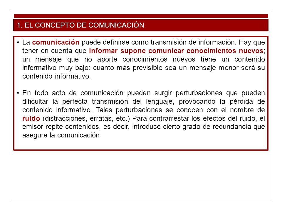 1. EL CONCEPTO DE COMUNICACIÓN