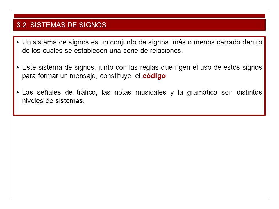 3.2. SISTEMAS DE SIGNOS