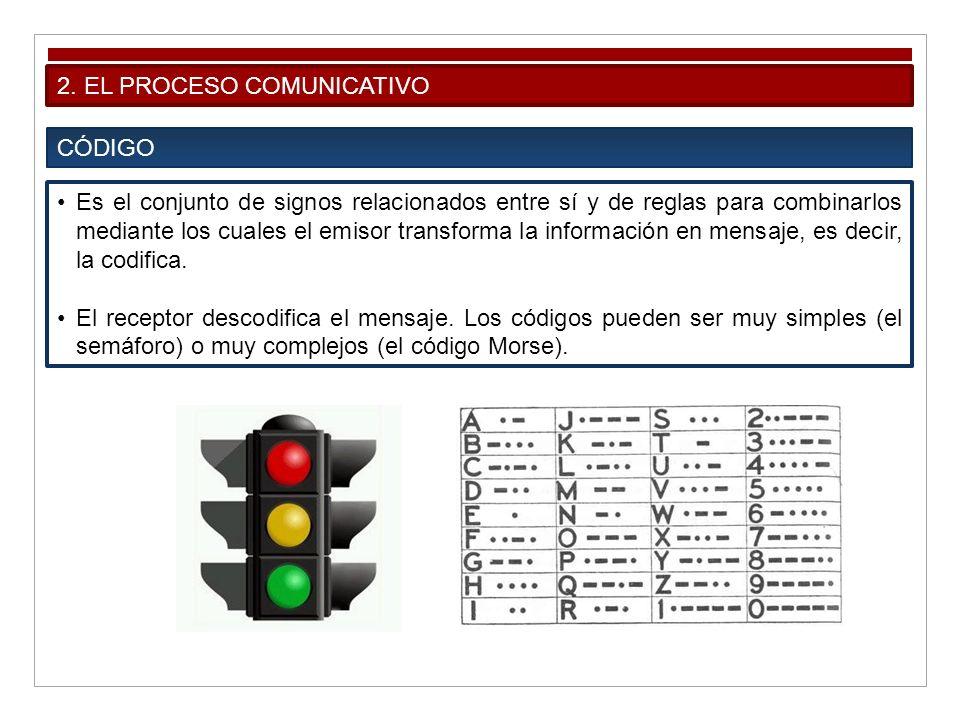 2. EL PROCESO COMUNICATIVO