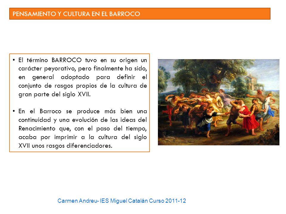 PENSAMIENTO Y CULTURA EN EL BARROCO