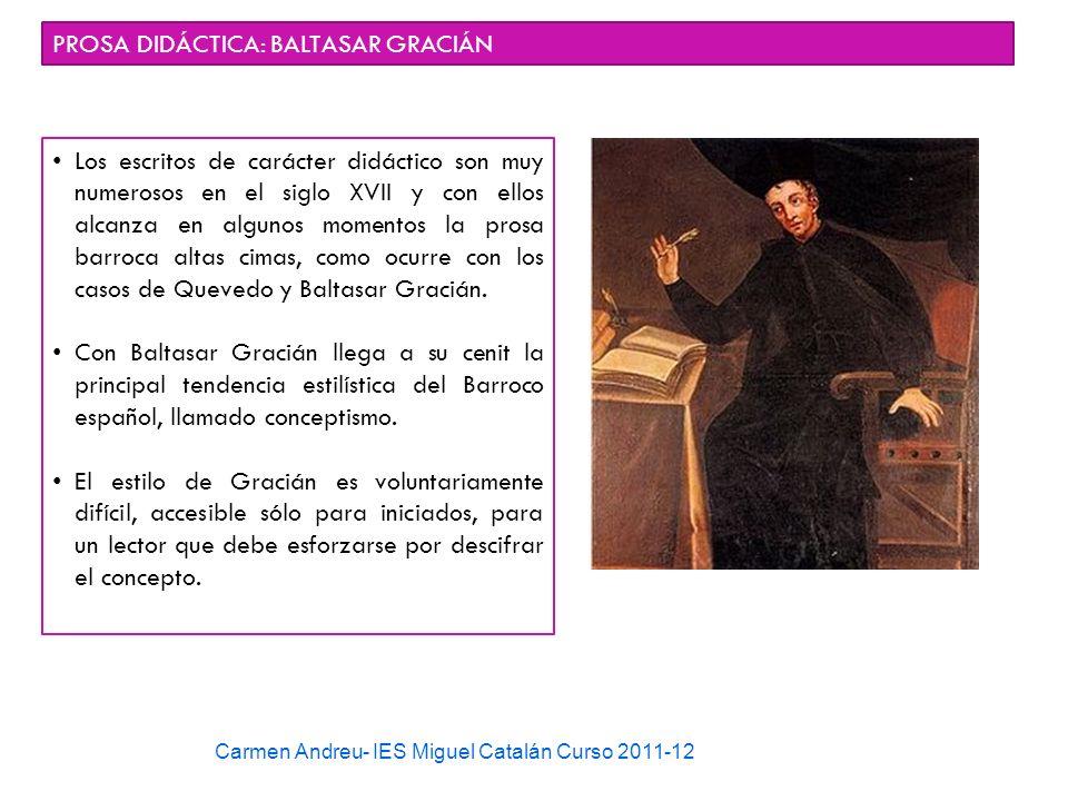 PROSA DIDÁCTICA: BALTASAR GRACIÁN