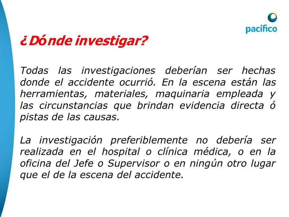 ¿Dónde investigar