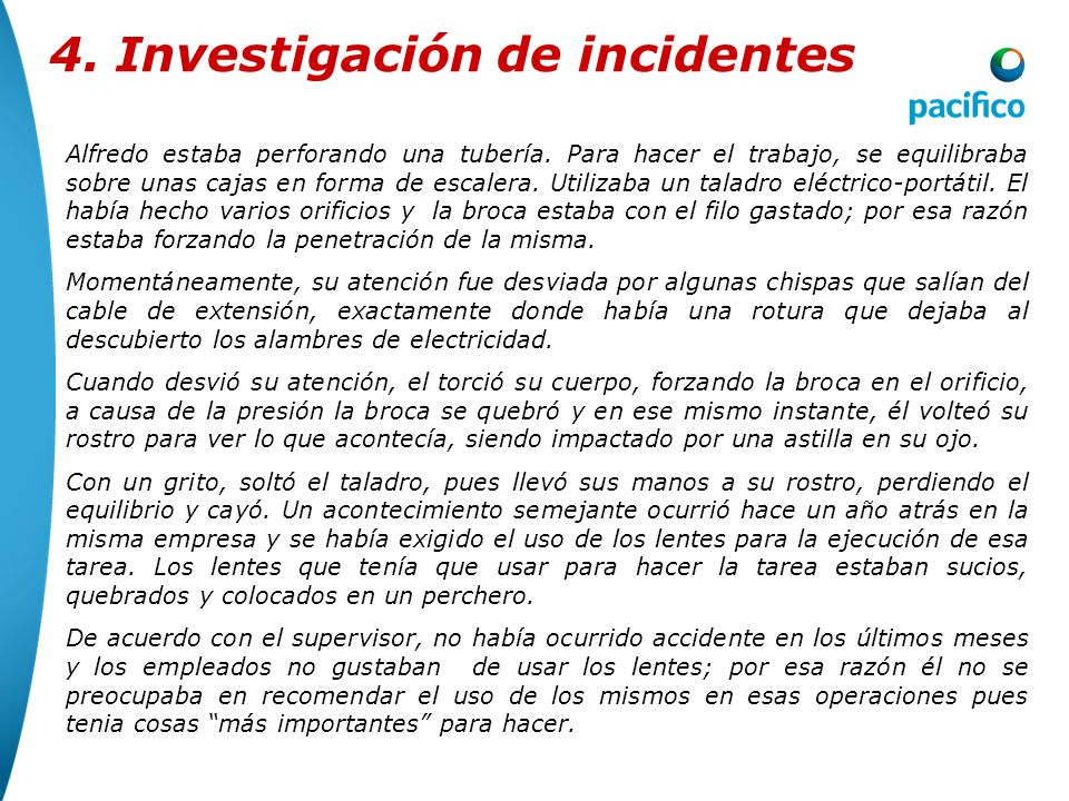 4. Investigación de incidentes