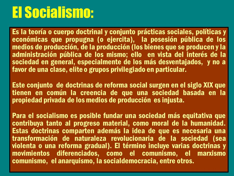 El Socialismo: