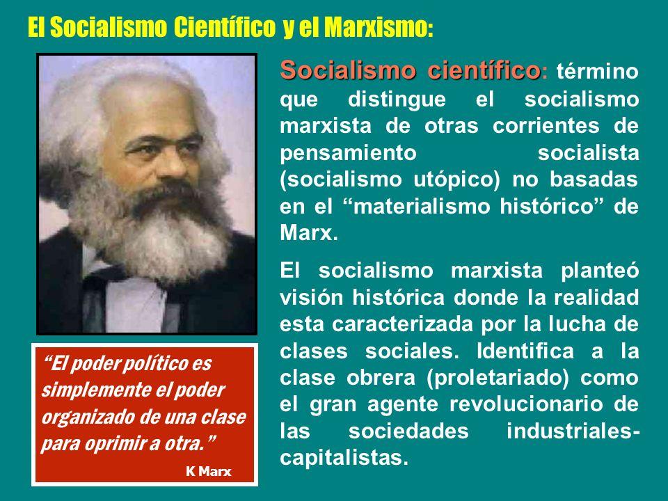 El Socialismo Científico y el Marxismo: