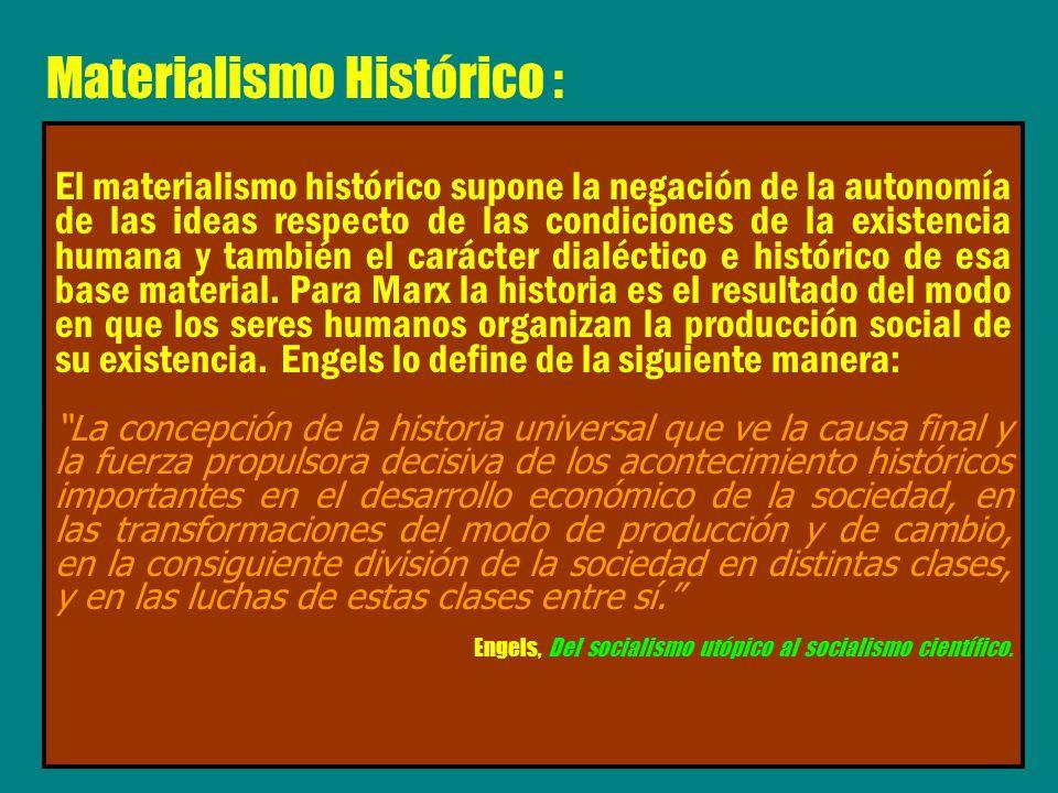 Materialismo Histórico :