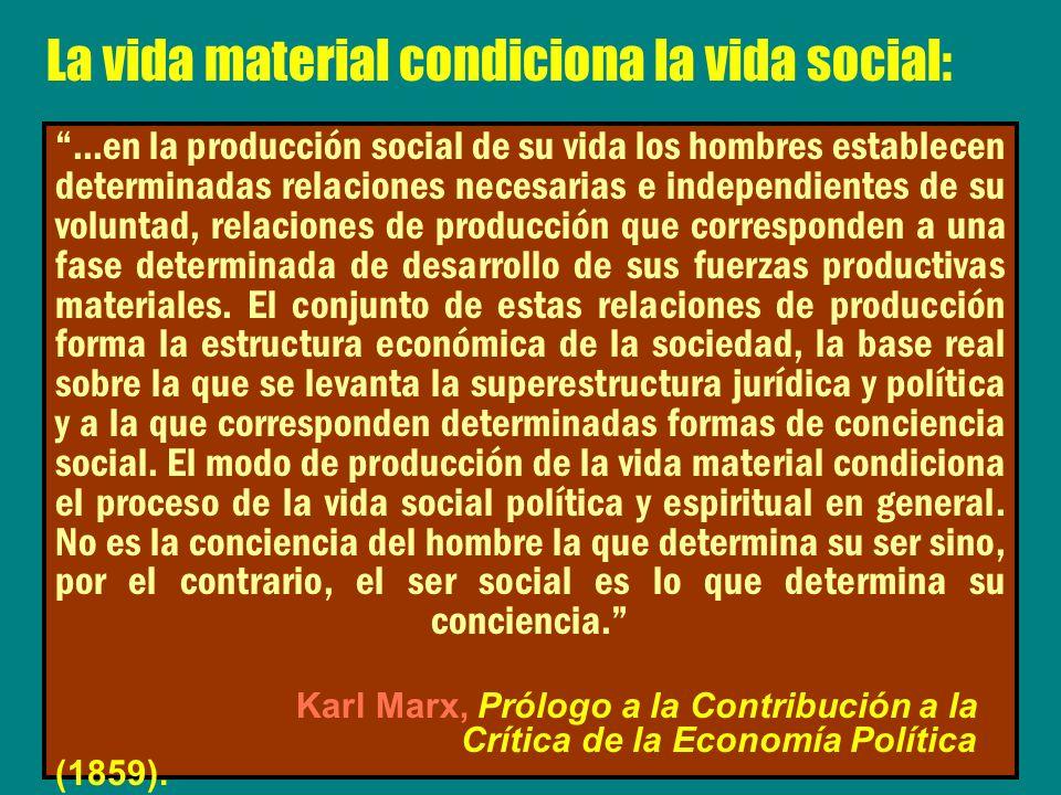 La vida material condiciona la vida social: