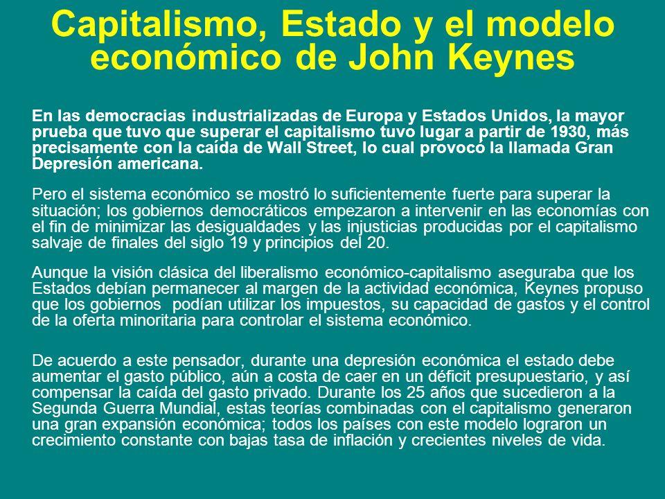 Capitalismo, Estado y el modelo económico de John Keynes