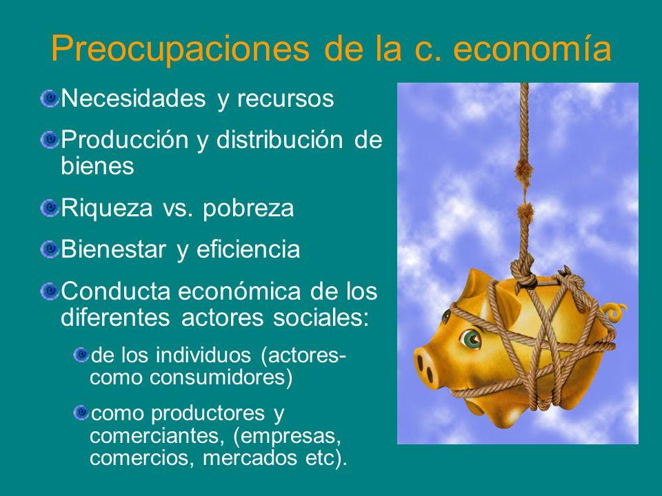 Preocupaciones de la c. economía