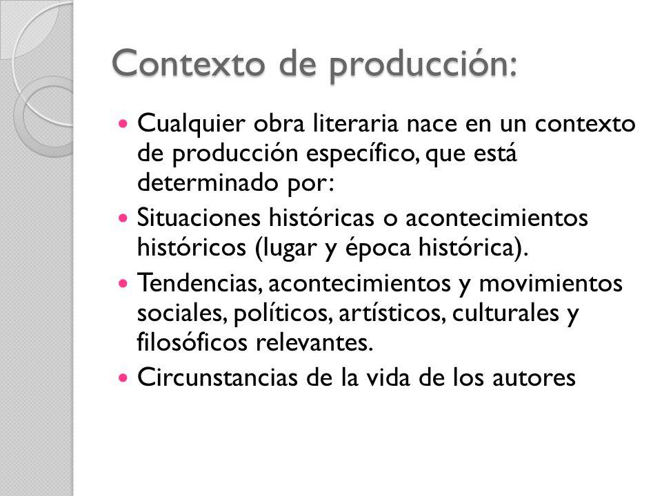 Contexto de producción: