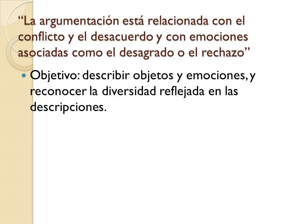 La argumentación está relacionada con el conflicto y el desacuerdo y con emociones asociadas como el desagrado o el rechazo